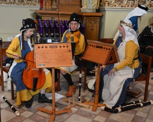 My band, Psallite, playing period music.
