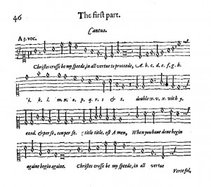 Facsimile of Christes Cross melody.